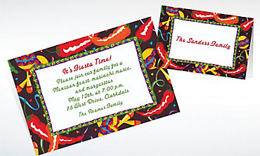 Custom Chilis and Maracas Invitations & Thank You Notes