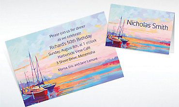 Custom Sailing at Sunset Invitations & Thank You Notes