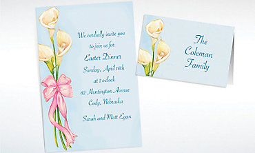 Custom Spring Lilies Invitations & Thank You Notes