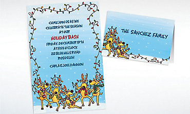 Custom The Reindeer Decorating Fiasco Invitations & Thank You Notes