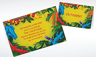 Custom Bugs & Reptiles Invitations & Thank You Notes