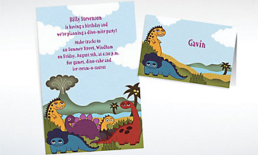 Custom Dinosaurs Invitations & Thank You Notes