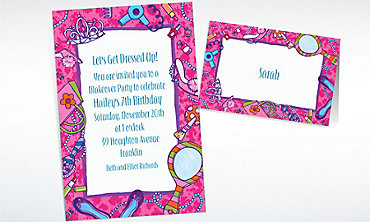 Custom Makeover Party Invitations & Thank You Notes