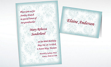 Custom Toile Applique Invitations & Thank You Notes