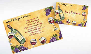 Custom Aged Like Fine Wine Invitations & Thank You Notes