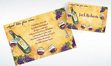 Custom Aged Like Fine Wine Invitations & Thank You Notes