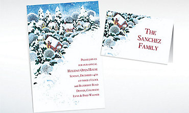 Custom Winter Wonderland Invitations & Thank You Notes