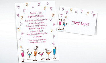 Custom Lovey Dovey Cocktails Invitations & Thank You Notes