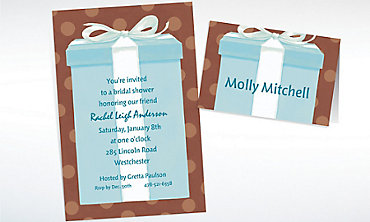 Custom The Special Gift Box Bridal Shower Invitations & Thank You Notes