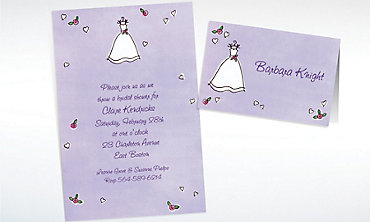 Custom Sweet Bride's Dress Wedding Invitations & Thank You Notes