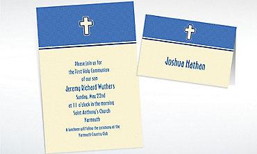 Custom Simple Modern Cross Invitations & Thank You Notes