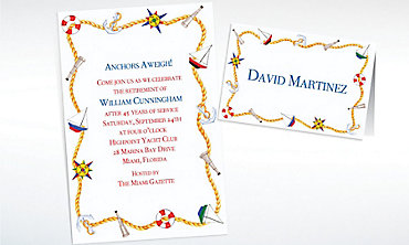 Custom Nautical Doodads Invitations & Thank You Notes