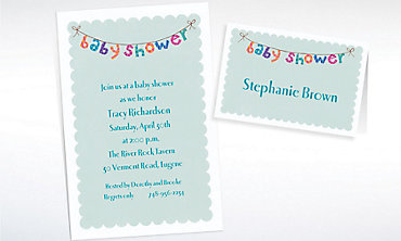 Custom Baby Shower Banner Baby Shower Invitations & Thank You Notes