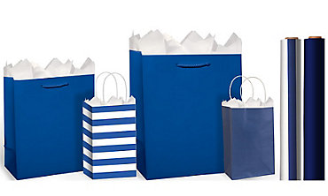 Royal Blue Gift Bags & Wrap