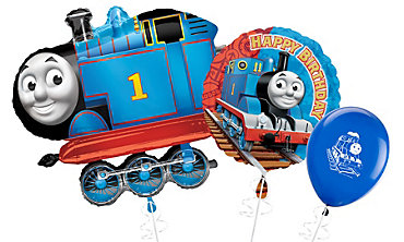 Thomas The Tank Themed Balloons