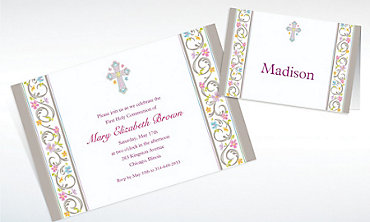 Custom Blessed Day Invitations & Thank You Notes