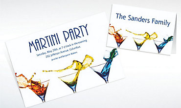Custom Three Martinis Invitations & Thank You Notes