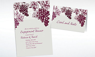 Custom Grape Vine Silhouette Invitations & Thank You Notes
