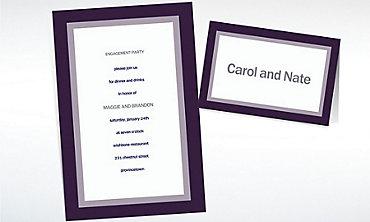Custom Austere Border Navy Invitations & Thank You Notes
