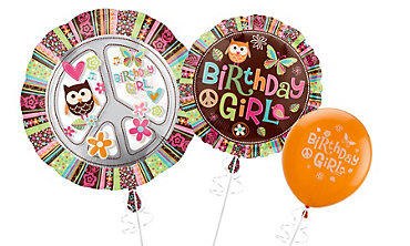 Hippie Chick Themed Balloons