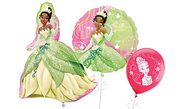 Princess and the Frog Tiana Themed Balloons
