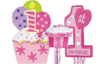 Girls 1st Birthday Pinatas