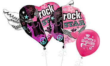Rocker Girl Themed Balloons