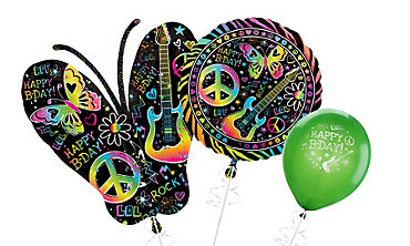 Neon Doodle Balloons