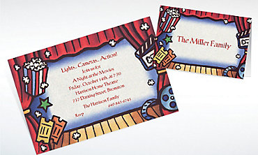 Custom Movie Theatre Invitations & Thank You Notes