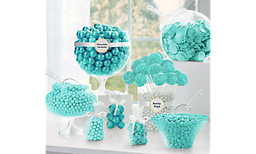 Robin's Egg Blue Candy Buffet