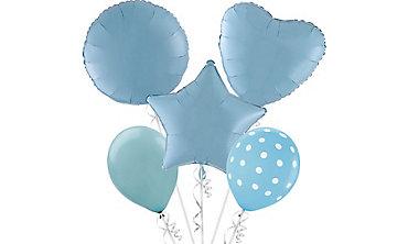 Pastel Blue Balloons