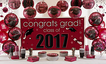Berry Congrats Grad Graduation Decorations