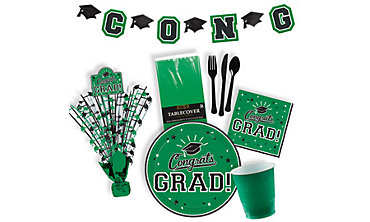 Green Graduation Party Supplies
