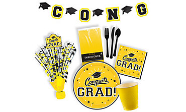 Yellow Graduation Party Supplies