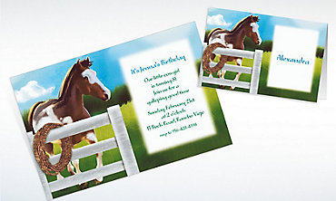 Custom Giddy Up Invitations & Thank You Notes