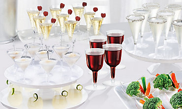 CLEAR Mini Tasting Party Supplies