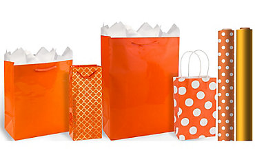 Orange Gift Bags & Wrap