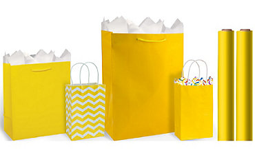 Yellow Gift Bags & Gift Wrap
