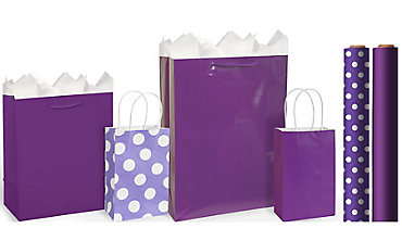 Purple Gift Bags & Gift Wrap