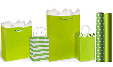Green Gift Bags & Wrap