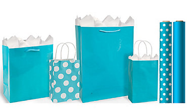 Caribbean Blue Gift Bags & Gift Wrap
