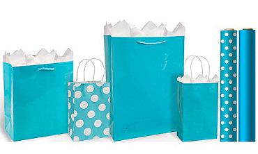 Caribbean Blue Gift Bags & Wrap