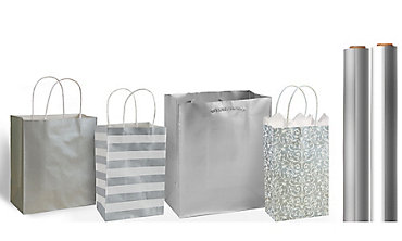 Silver Gift Bags & Wrap