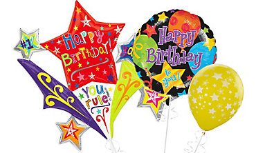 Birthday Star Balloons