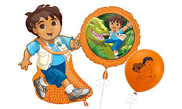 Go Diego Themed Balloons