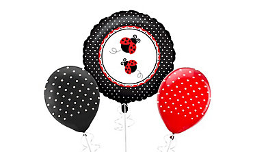 Fancy Ladybug Birthday Balloons