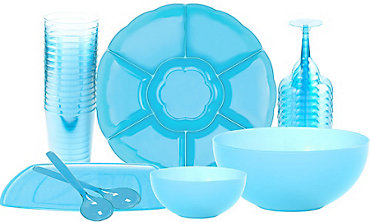 Caribbean Blue Serveware & Drinkware