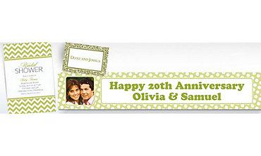 Leaf Green Custom Invitations & Banners