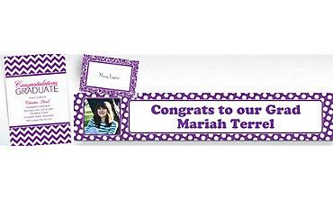 Purple Custom Invitations & Banners