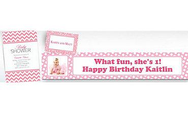 Pink Custom Invitations & Banners